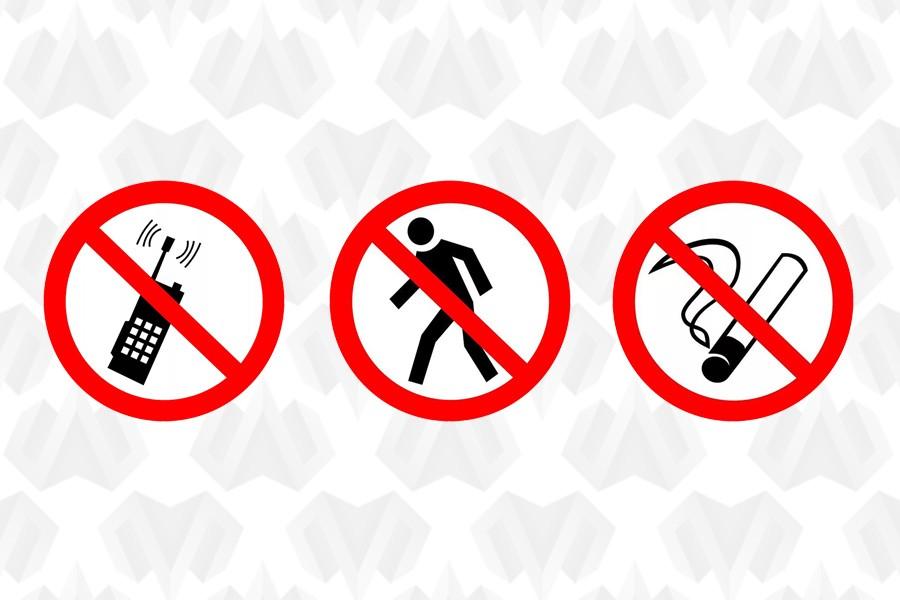 Запрещающие знаки по ГОСТ