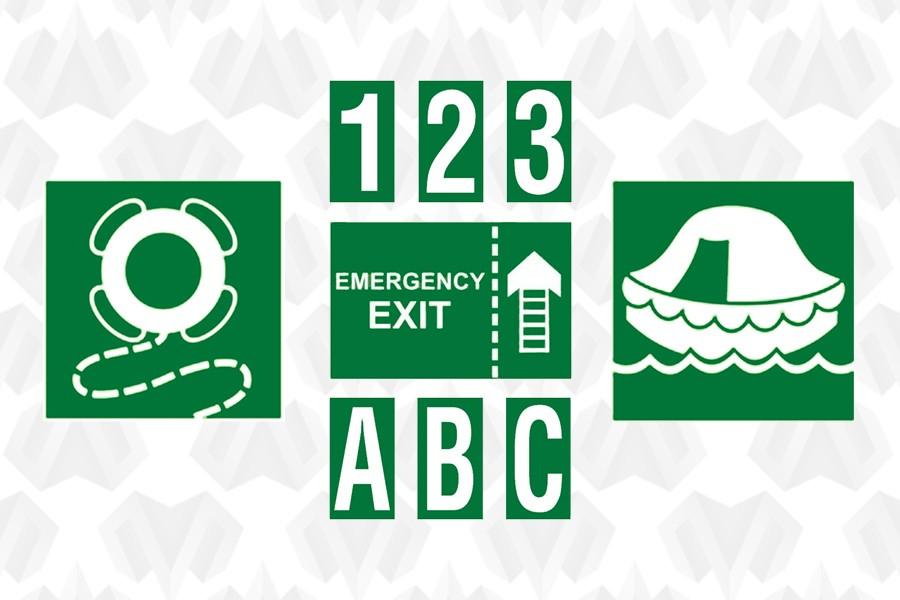 Информационные и эвакуационные знаки и символы ИМО