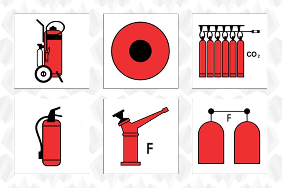 Противопожарные знаки и символы ИМО